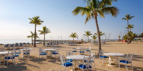 Beach restaurant in Florida