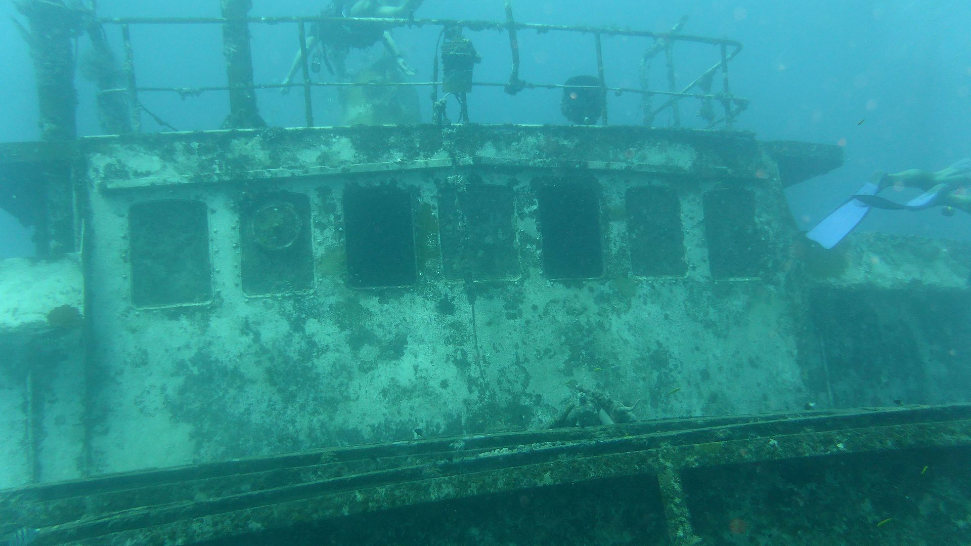 Shipwreck dive sites in the Far East