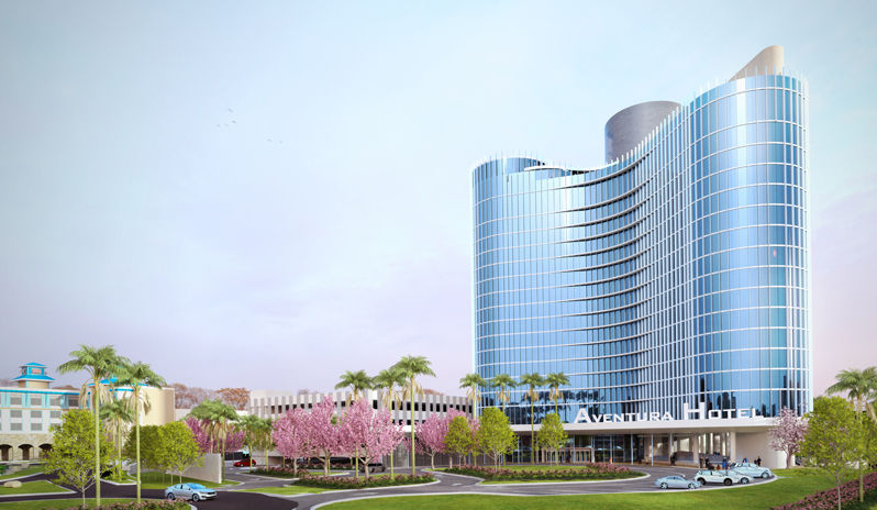 The space age exterior at Universal's Aventura Hotel reveals what's new for Florida holidays