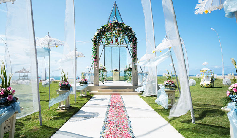 Bali makes a romantic wedding venue