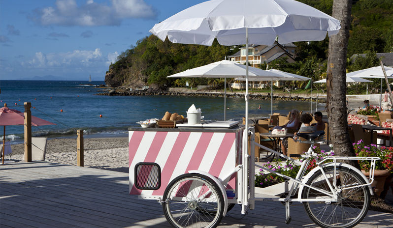 Ice cream trolley at BodyHoliday