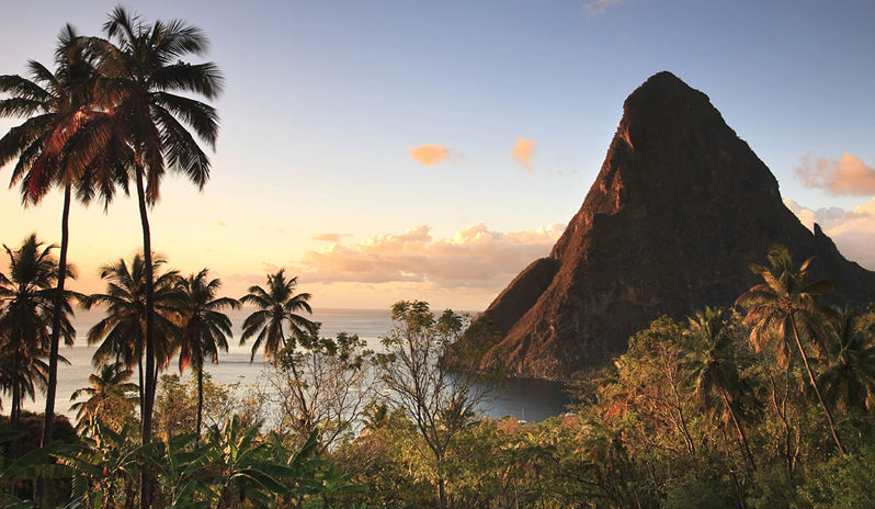 Caribbean holidays are always filled with stunning scenery such as St Lucia's mountains.