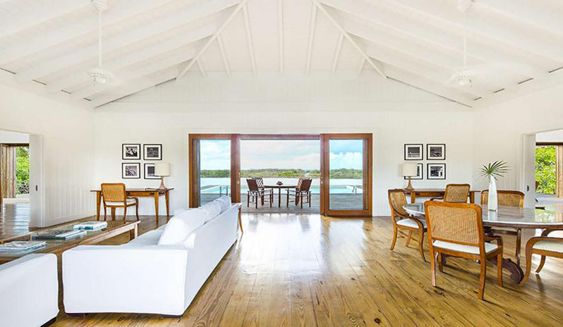 One of the luxurious rooms at Parrot Cay by COMO in Turks & Caicos.