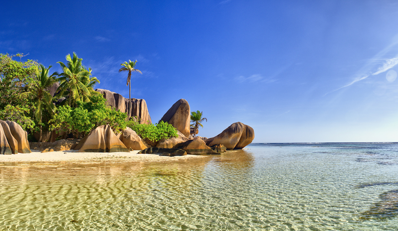A celebrity holiday to Seychelles.