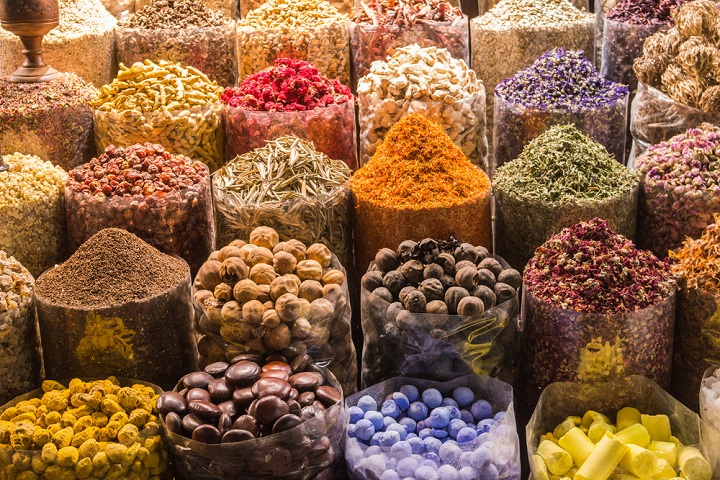Spices for sale in Dubai souk