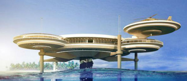 Proposed underwater hotel Dubai - image courtesy: Deep Ocean Technology