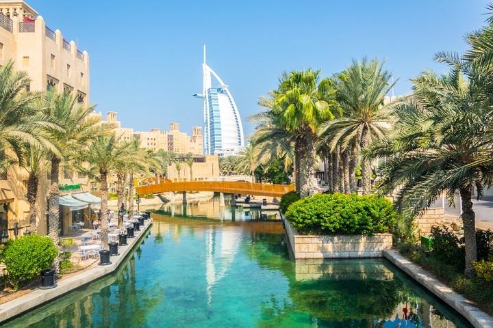 View of souk in Dubai