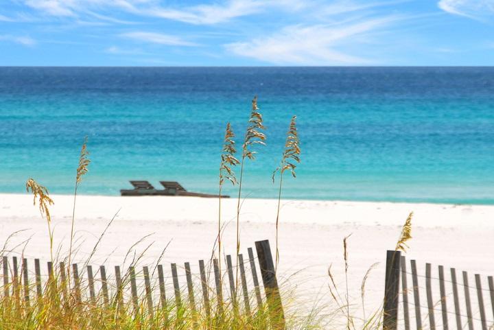 White sand beach in Florida