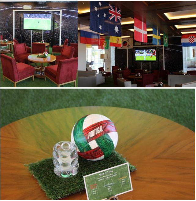 The World Cup Corner Lounge at Conrad Algarve