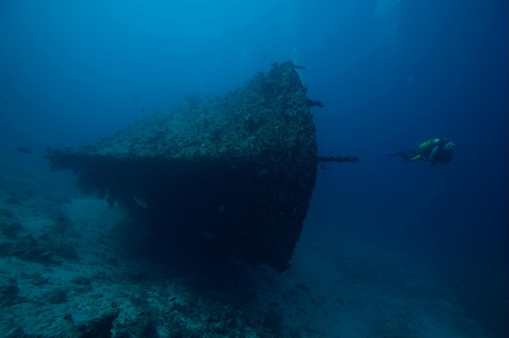 Shipwreck dive site in the Maldives