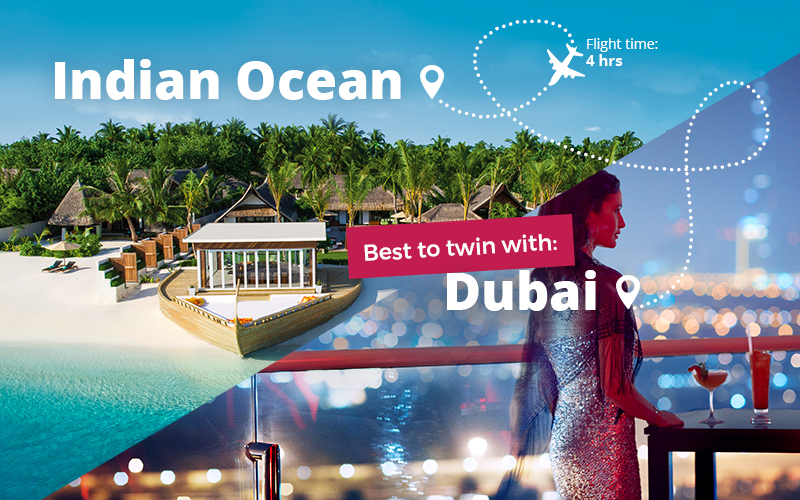 Twin centre holidays in Maldives and Dubai.